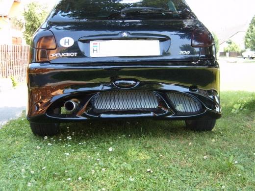 Peugeot 206 hátsó lökháító