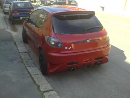 Peugeot 206 hátsó lökhárító