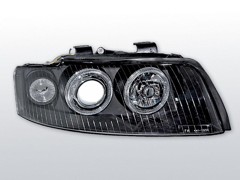 AUDI A4 2000.10-2004-10 Fekete ANGEl EYES Elsõ lámpa