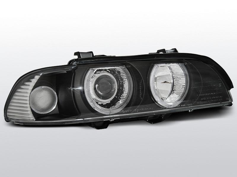 BMW E39 1995.09-2003.06 Fekete ANGEL EYES H7/H7 Elsõ Lámpa