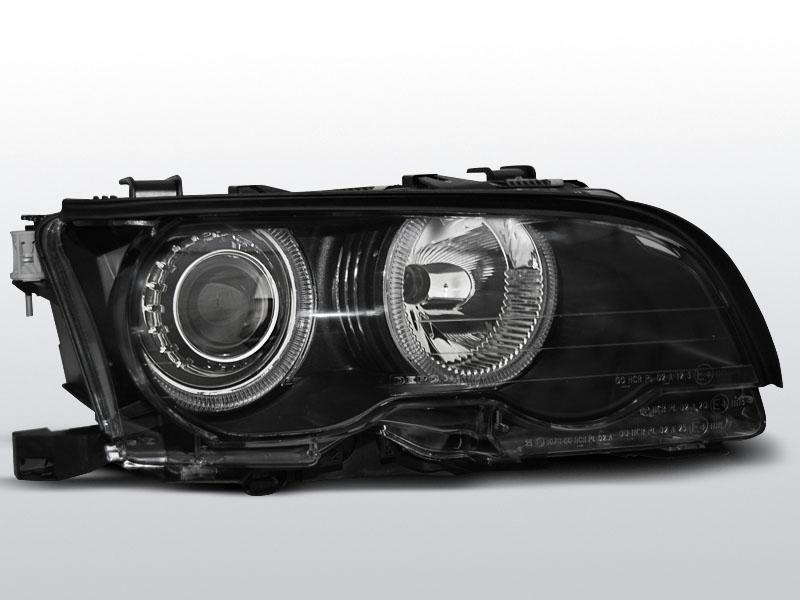 BMW E46 2001.09-2003.03 Fekete ANGEL EYES C/C Elsõ Lámpa