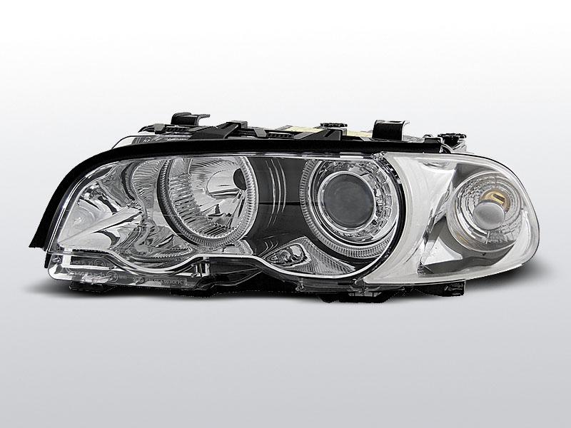 BMW E46 1999.04-2001.08 Króm ANGEL EYES C/C Elsõ Lámpa