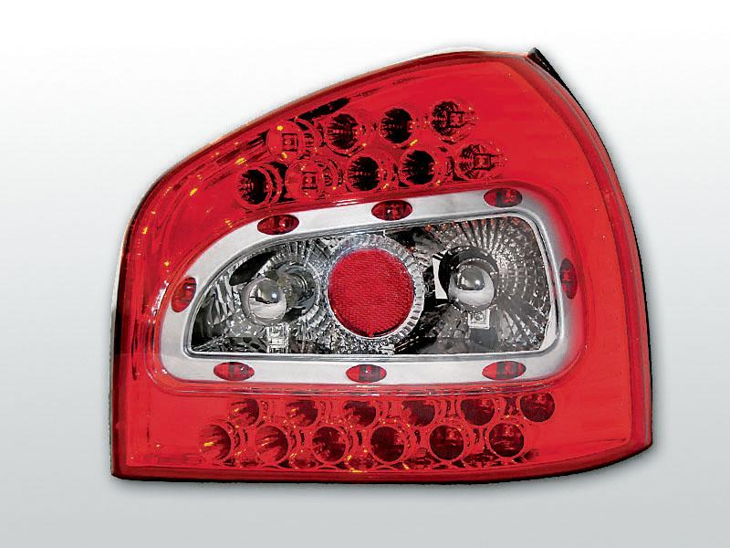 AUDI A3 08.96-08.00 Piros Fehér LED -es hátsó lámpa