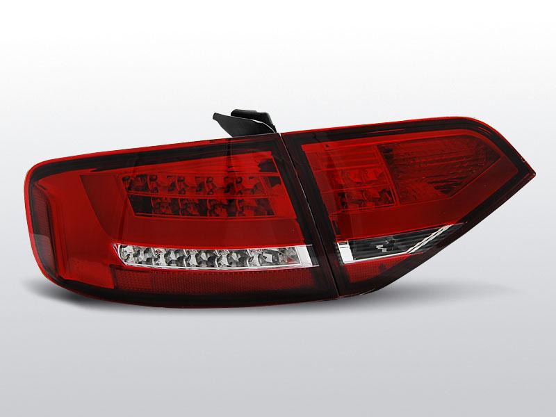 AUDI A4 B8 08-11 SEDAN Piros-Fehér LED-es Hátsó lámpa