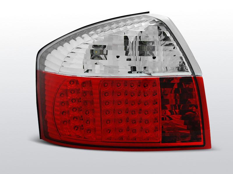 AUDI A4 Piros-Fehér LEdes Hátsó lámpa 10.00-10.04