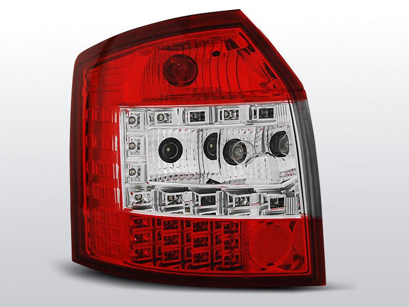 AUDI A4 10.00-10.04 AVANT LED Piros fehér -es hátsó lámpa