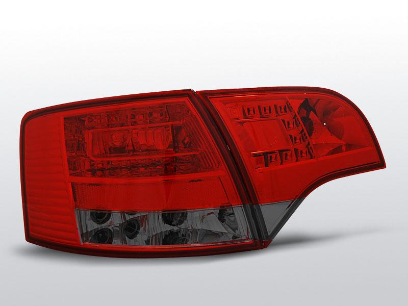 AUDI A4 B7 11.04-03.08 AVANT Piros Sötétített LED -es hátsó lámpa