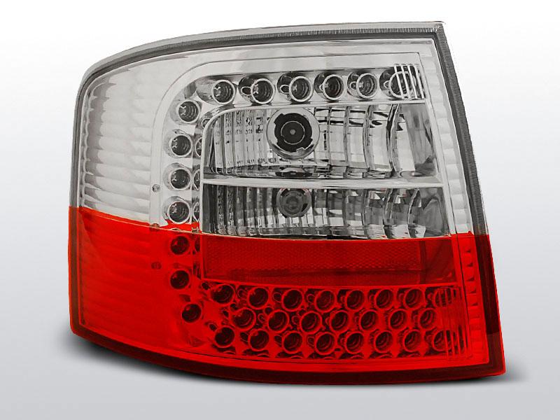 AUDI A6 05.97-05.04 AVANT Piros Fehér LED -es hátsó lámpa