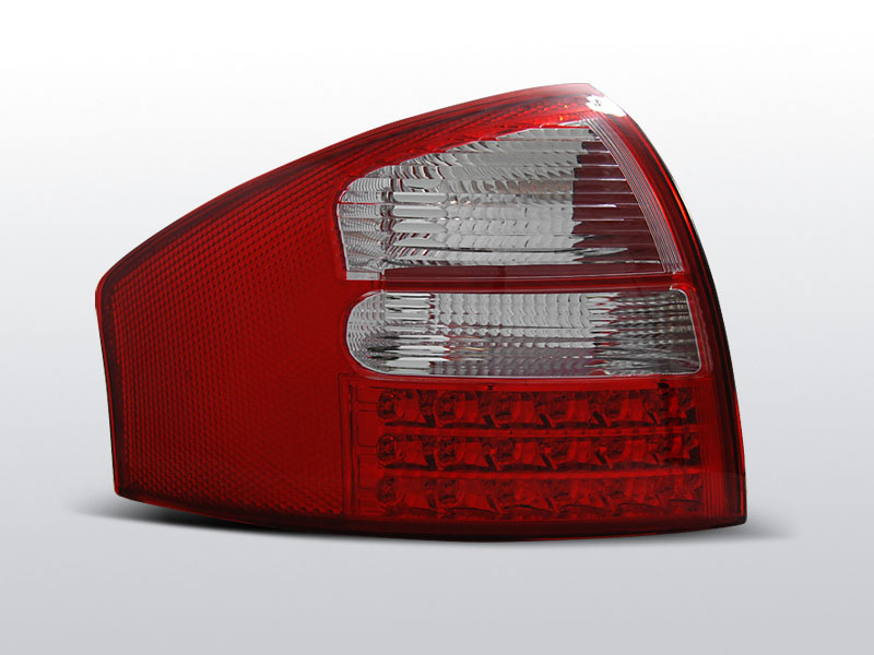 AUDI A6 05.97-05.04 SEDAN Piros-Fehér Ledes Hátsó lámpa