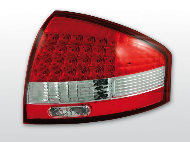 AUDI A6 97-04 Piros Fehér LED -es hátsó lámpa