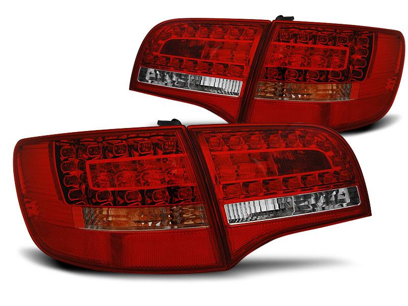 AUDI A6 C6 05-08 AVANT Piros-Fehér LED Hátsó lámpa