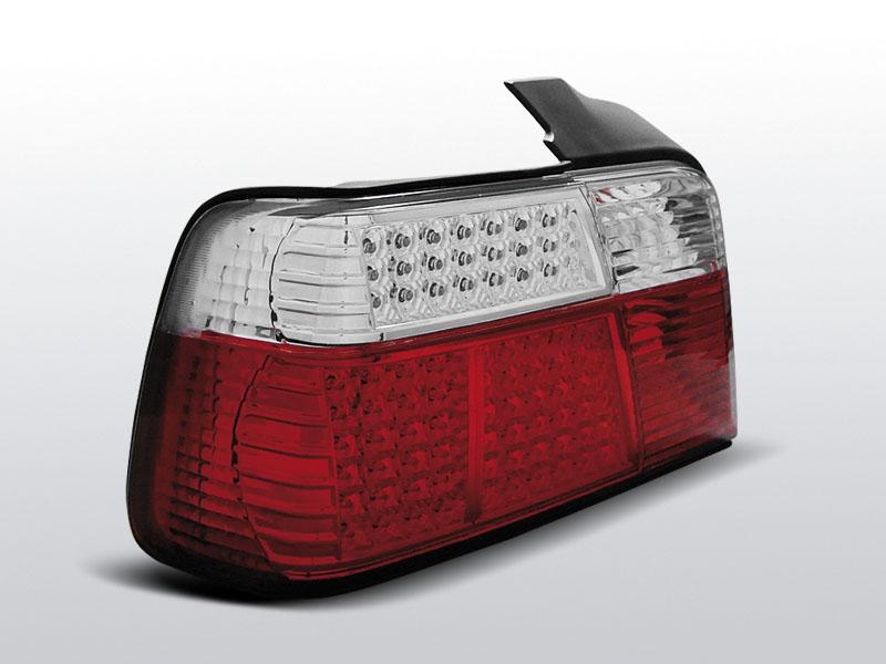 BMW E36 SEDAN Piros-Fehér Led-es Hátsó lámpa