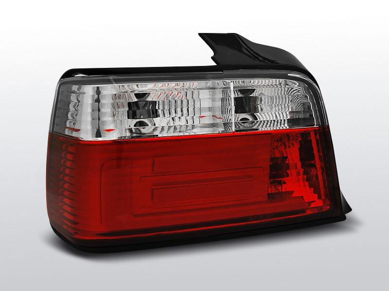 BMW E36  SEDAN Piros-Fehér LED BAR Hátsó lámpa