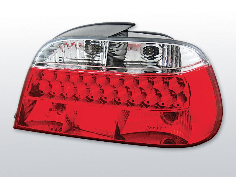 BMW E38 06.94-07.01 Piros Fehér LED -es hátsó lámpa