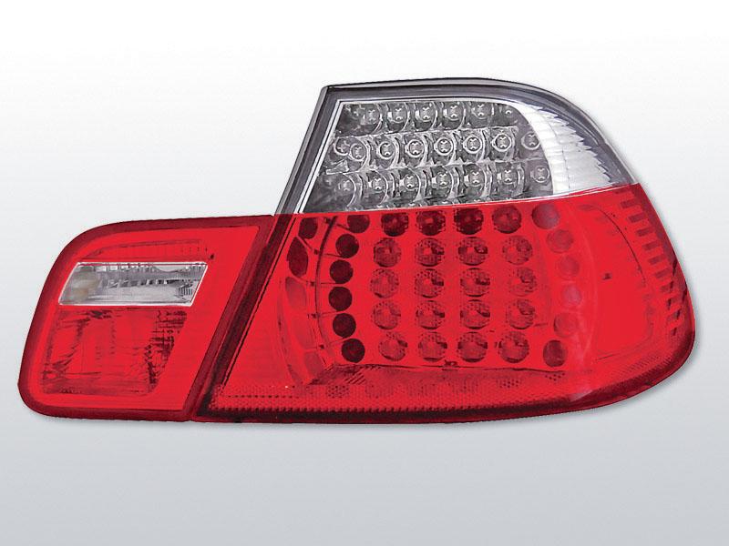 BMW E46 04.99-03.03 COUPE Piros Fehér LED -es hátsó lámpa