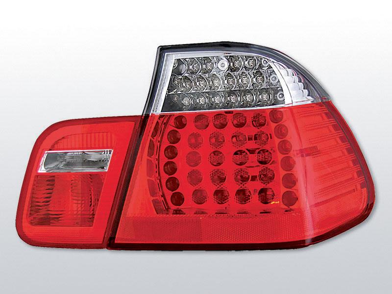 BMW E46 05.98-08.01 Piros Fehér LED -es hátsó lámpa