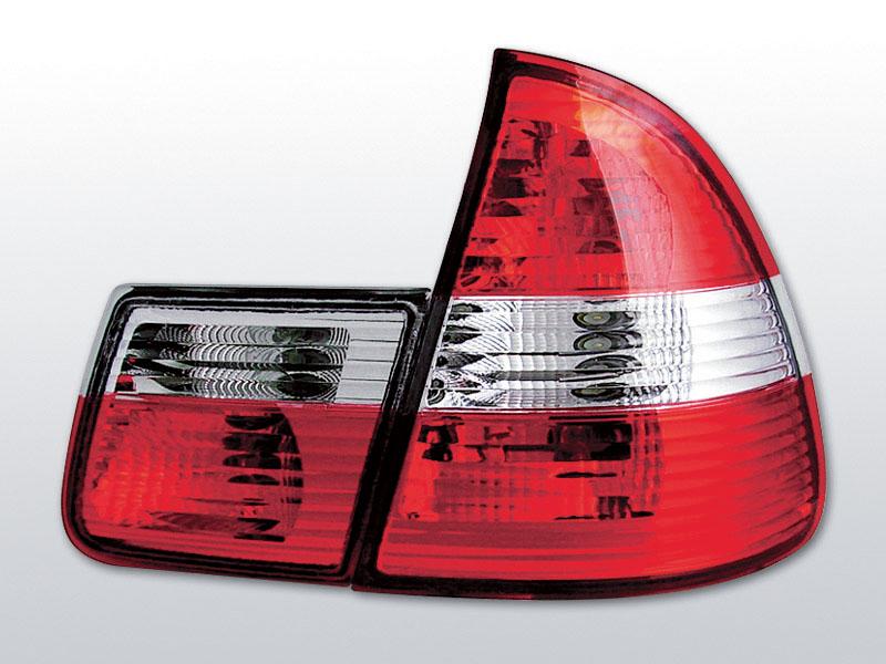 BMW E46 99-05 TOURING Piros Fehér hátsó lámpa