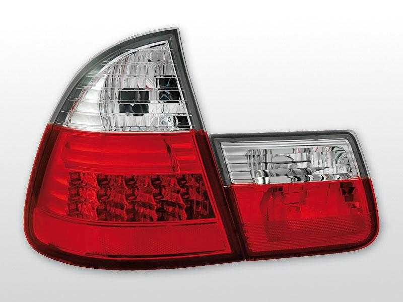 BMW E46 99-05 Piros Fehér LED -es hátsó lámpa