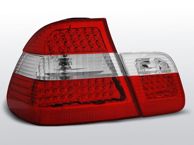 BMW E46 09.01-03.05 SEDAN Piros Fehér LED -es hátsó lámpa