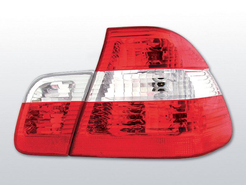BMW E46 09.01-03.05 Piros Fehér hátsó lámpa