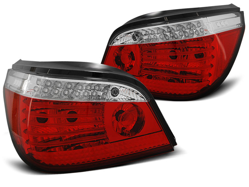 BMW E60 03-07 Piros-Fehér LED SEQ Hátsó Lámpa