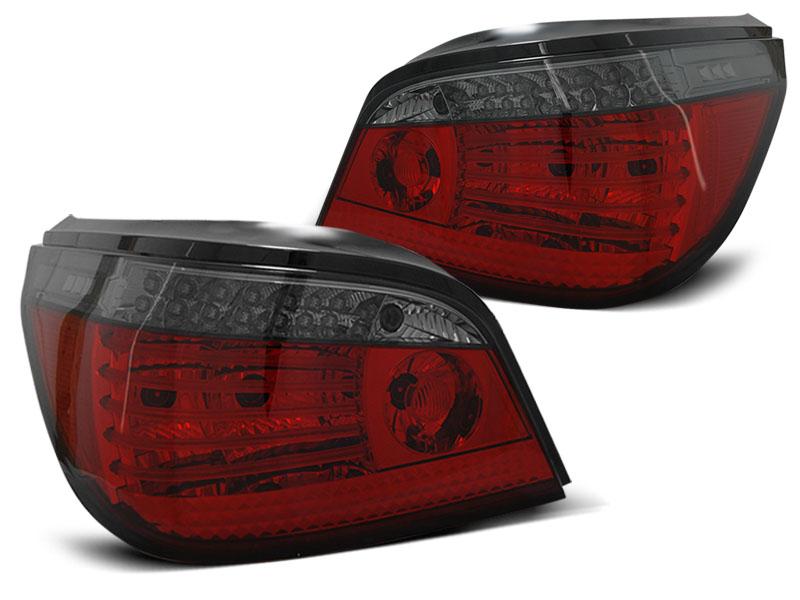 BMW E60 2003-07 Piros-Füst LED SEQ Hátsó Lámpa