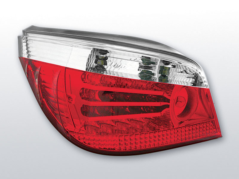 BMW E60 03-07 Piros Fehér LED -es hátsó lámpa