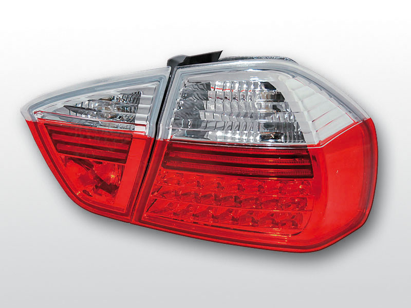 BMW E90 03.05-08.08 Piros Fehér LED -es hátsó lámpa