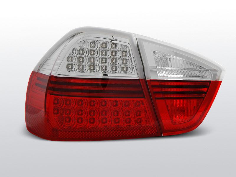 BMW E90 Piros-Fehér LED-es Hátsó lámpa 03.05-08.08