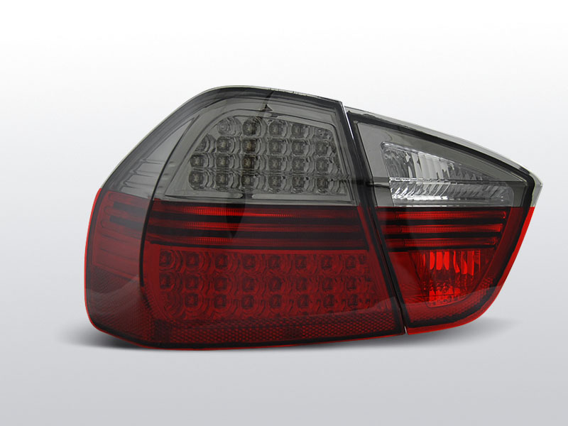 BMW E90 Piros-Füstös Led-es Hátsó lámpa 03.05-08.08
