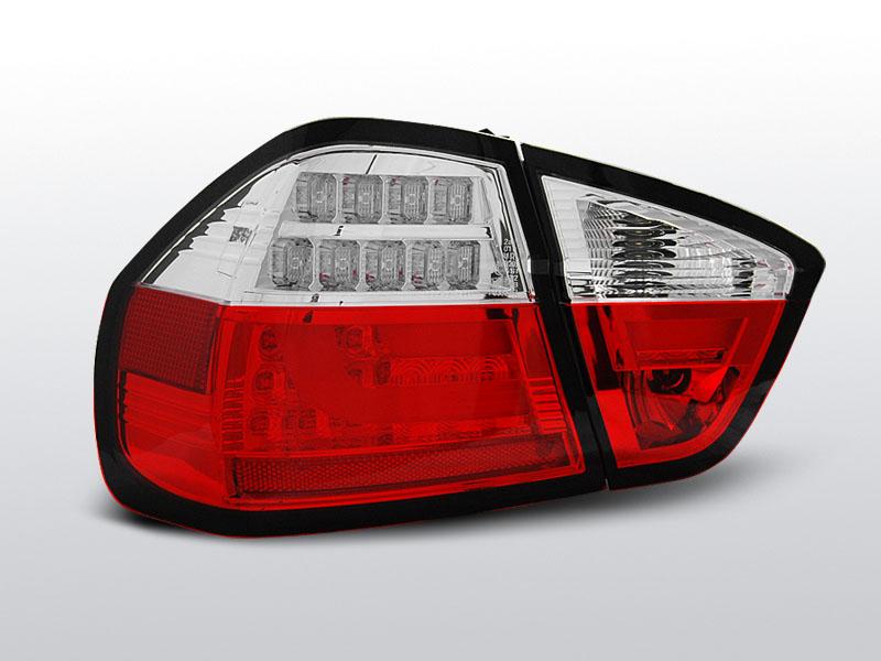 BMW E90 03.05-08.08 Piros fehér led-es hátsó lámpa