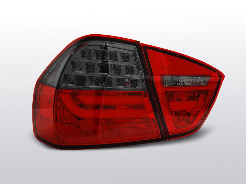 BMW E90 03.05-08.08 Piros-Füst LED BAR Hátsó lámpa