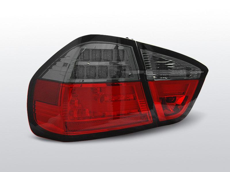 BMW E90 03.05-08.08 Piros füstös hátsó lámpa