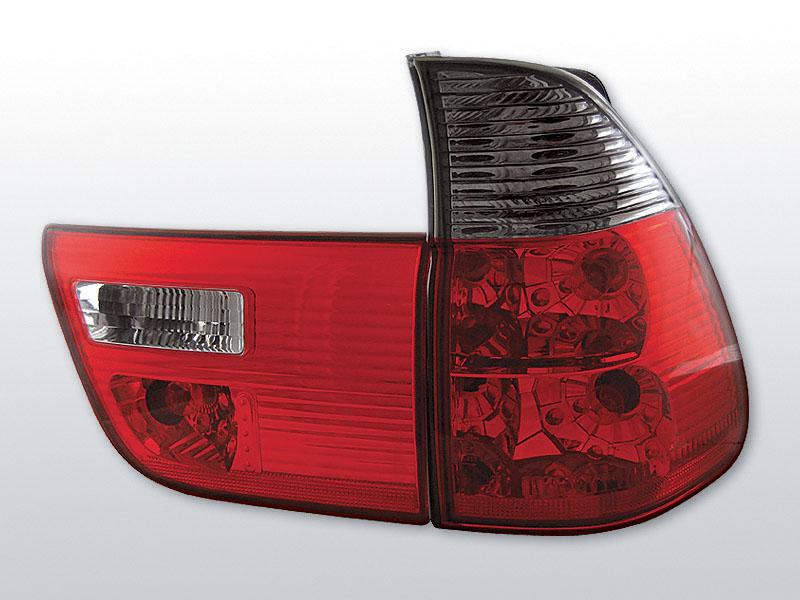 BMW X5 E53 09.99-10.03 Piros Sötétített hátsó lámpa