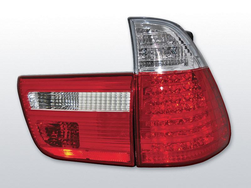 BMW X5 E53 09.99-06 Piros Fehér LED -es hátsó lámpa