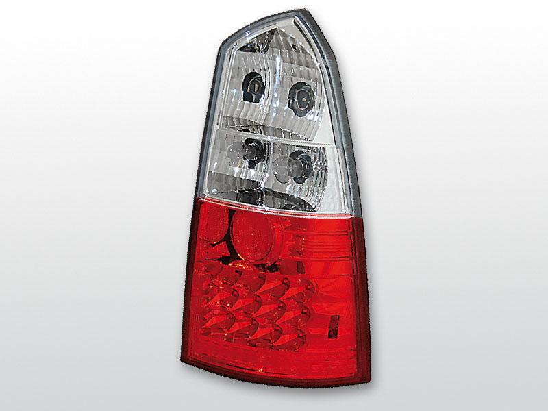 FORD FOCUS MK1 10.98-10.04 KOMBI Piros Fehér LED -es hátsó lámpa