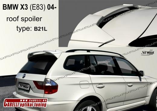 BMW X3 csomagtartó spoiler