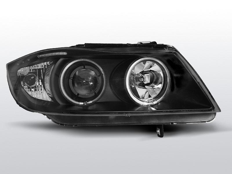 BMW E90/E91 2005.03-2008.08 Fekete Angel Eyes CCFL Elsõ Lámpa