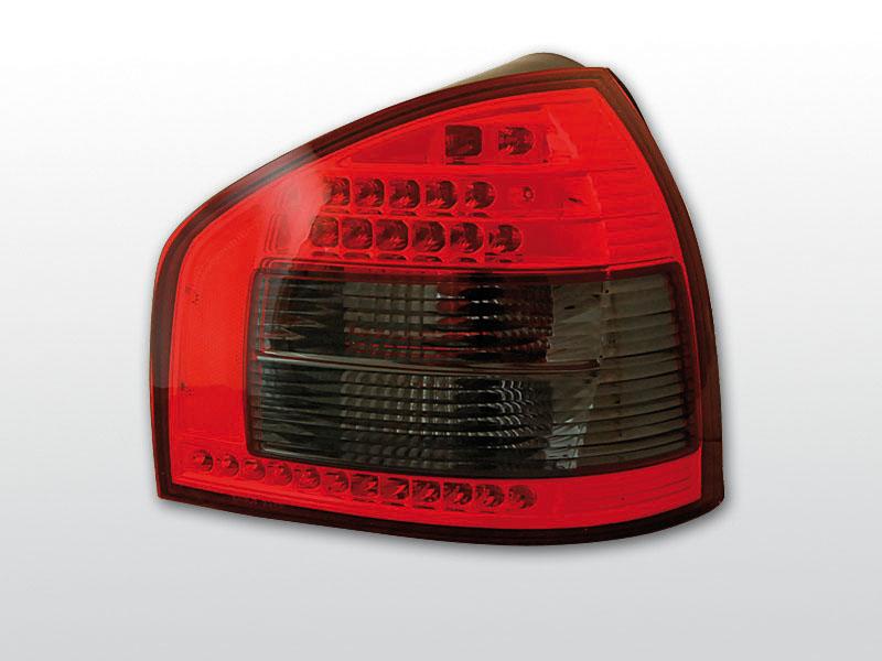AUDI A3 08.96-08.00 Piros Sötétített LED -es hátsó lámpa