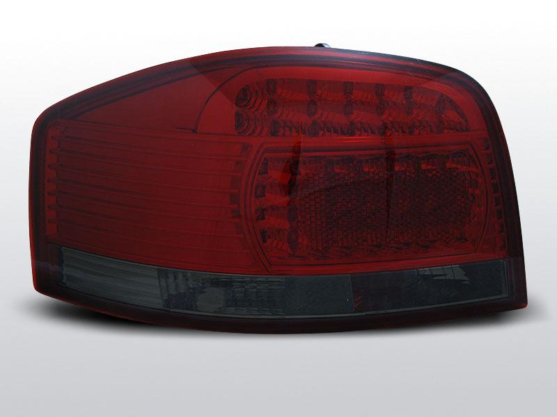 AUDI A3 05.03-08 Piros Sötétített LED -es hátsó lámpa
