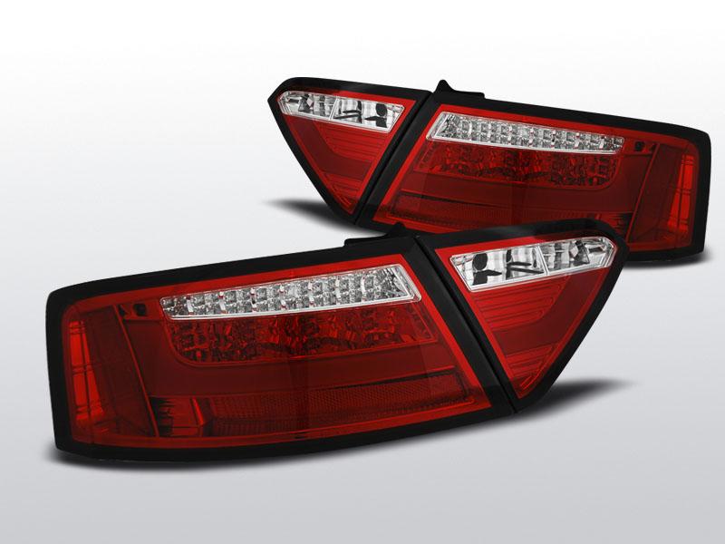 Audi A5 Coupe Led Bar Piros-Kristály Hátsó Lámpa (Évj.:2007 – 2011.06)