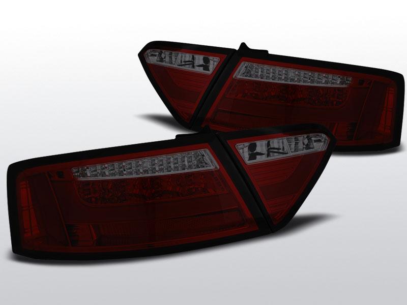 Audi A5 Coupe Led Bar Piros-Füst Hátsó Lámpa (Évj.:2007 – 2011.06)