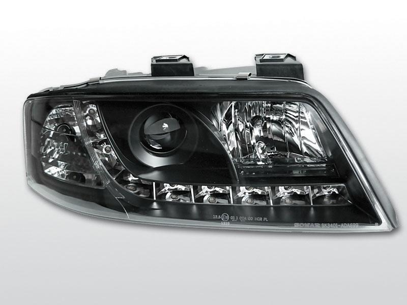 AUDI A6 1997.05-2001.05 Fekete Daylight Elsõ Lámpa