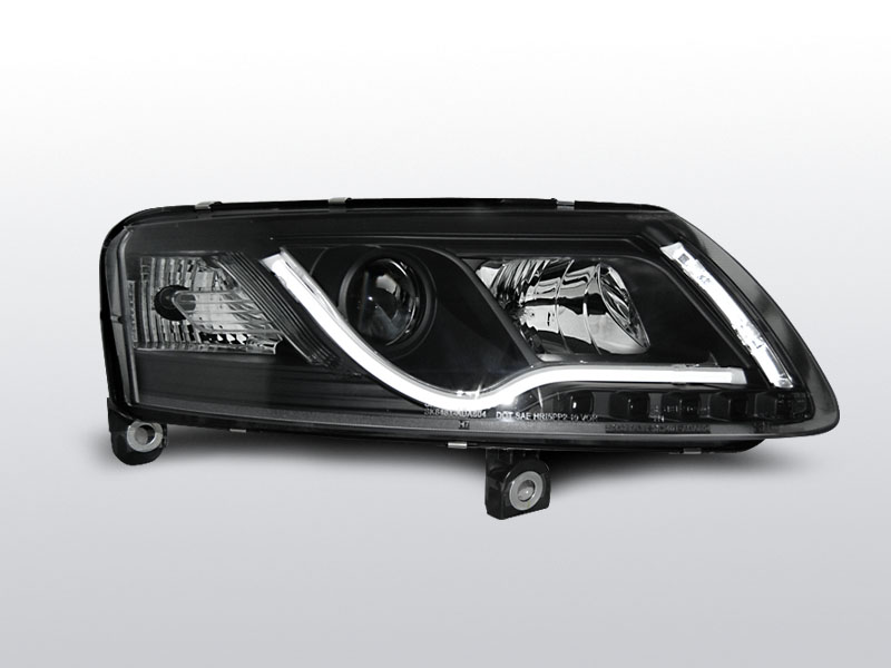 AUDI A6 C6 2004.04-2008 Fekete LED TUBE LIGHTS Elsõ Lámpa