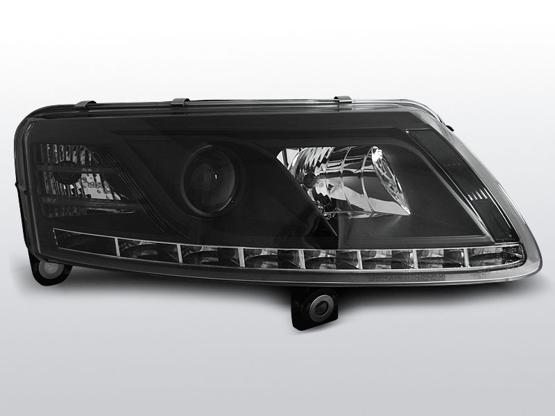 AUDI A6 C6 2004.04-2008 Fekete DRU DRL H7 Elsõ Lámpa