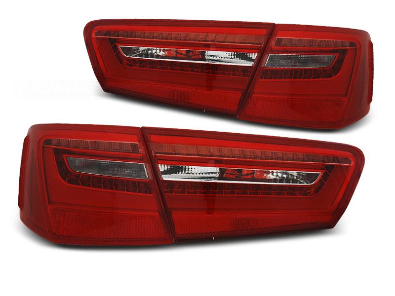 AUDI A6 C7 11-10.14 piros-fehér hátsó lámpa