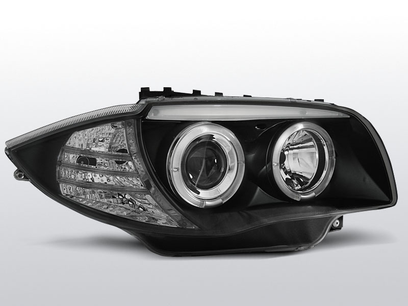 BMW E87/E81/E82/E88 2004-2011 Fekete ANGEL EYES Elsõ Lámpa