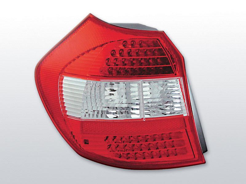 BMW E87/81 04-08.07 Piros Fehér LED -es hátsó lámpa