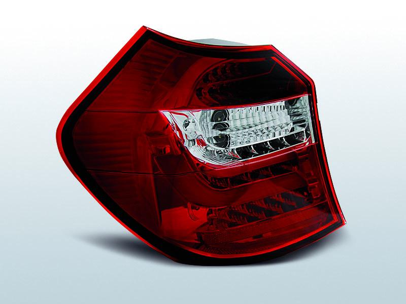 BMW E87/E81 04-08.07 Led-es Piros fehér hátsó lámpa
