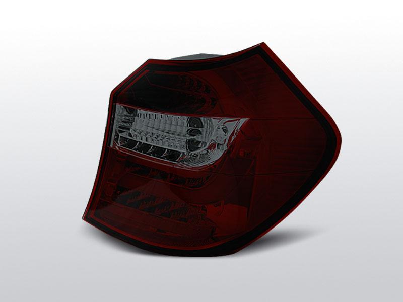 BMW E87/E81 04-08.07 Piros Füstös LED hátsó lámpa